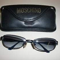 Moschinom3227-S 57-16 642/17 125rectanglelogosblue Metallic sunglasses&case  Photo