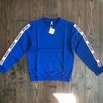Moschino Moschino Arm Tape Logo Blue Sweatshirt Eu Large (Dustbag Included) Photo