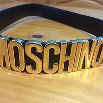 Moschino Name Belt Black 100% Authentic & Returnable Photo