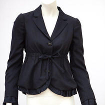 Moschino Navy Jacket Nwt Sz Eu 40 Us Sz 6 Photo