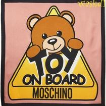 Moschino Pink Signature Teddy Bear Toy on Board 26
