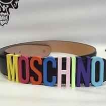 Moschino Rainbow Leather Belt 105 Photo