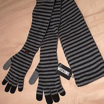 Moschino Rare Unique  Wool Mens Cool Looking Long Scarf Italy Photo