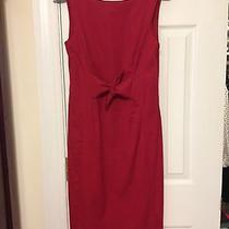 Moschino Red Dress Knee-Length Size 6  Photo