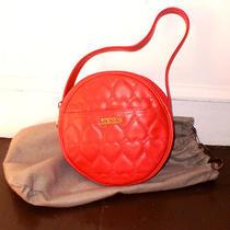 Moschino Red Leather Handbag. Photo