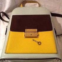 Moschino Redwall Vintage Backpack Rucksack Very Rare Leather Rare Color Photo