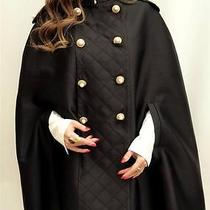 Moschino Runway Black Cape Coat Uk8 /12 It40- Great Gift Photo