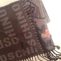 Moschino Scarf Black and Gray Long Nwt Photo