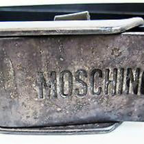 Moschino Seat Belt Buckle Leather Belt Size 95/37.5