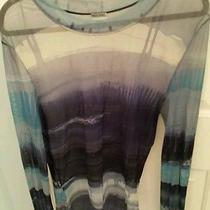 Moschino Sheer Graphic Blouse Blue Photo