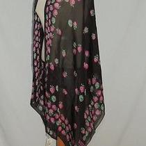 Moschino Strawberry Print Silk Chiffon Shawl Nwt 125.00  Photo