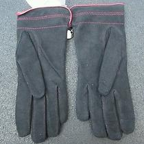 Moschino Suede Gloves Nwt  Photo