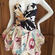 Moschino Vintage Silk Party Dress With Built in Corset  Photo