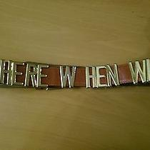 Moschino Where When Why Belt Leather Red Size 44 Photo