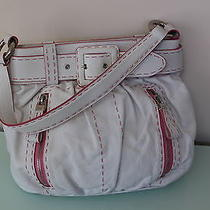 Moschino White and Pink Bag Handbag Purse  Photo