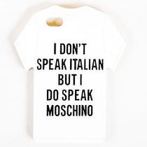Moschino White Rubber T-Shirt Iphone 5 Case Photo