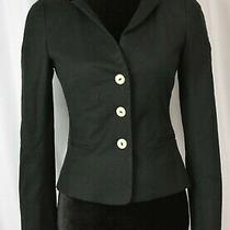 Moschino Women's Blazer Size 4 Coton Blend Black Two Tone Buton Up Italy Career Photo