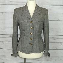Moschino Women's Houndstooth Jacket Blazer With Buttons Hearts Size Small S Photo