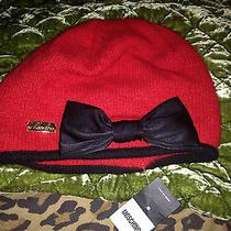 Moschino Wool Red Bow Beanie Hat Kawaii Cute Lolita Couture  Photo
