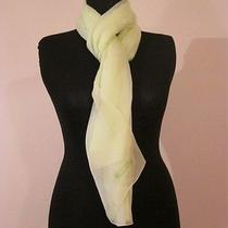 Moschino Yellow Logo Scarf Pure Silk Photo