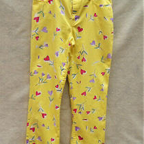 Moschino Yellow With Multicolor Flower Jeans Sz 29 Made in Italy Photo