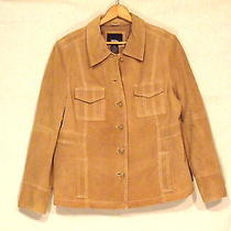 Mossimo Beige Suede Jacket / Button Front / Women's Xl / Wonderful / Bn9 Photo