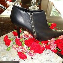 Mossimo   Black Ankle   Zip High Heel Super Cute  Boots Size  9.5m Photo