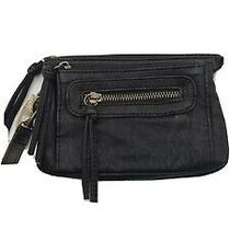Mossimo Black Faux Leather Wristlet Clutch New Photo