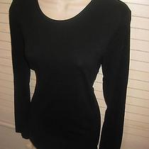 Mossimo Black Long Sleeve Super Soft & Stretchy Tissue Tee Topsz M Photo