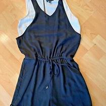 Mossimo  Black White Romper Belted Waist Sz S Photo