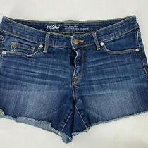 Mossimo Blue Jean Shorts Womens Size 8/29 Mid Rise Midi Medium Wash Denim Photo