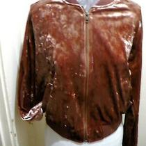 Mossimo Blush Velvet Bomber Jacket in Misses Small Photo