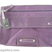 Mossimo Brand Suede Like Purple Clutch Bag-New W/tags Photo