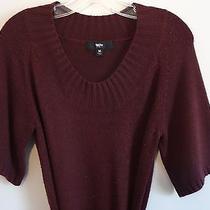 Mossimo Burgundy Short Sleeve Acrylic Sweater Dress - Medium Photo