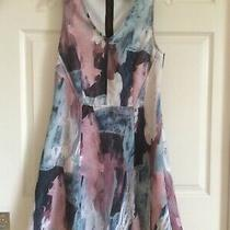 Mossimo Casual Polyester Blend Multicolor Dress Sleeveless Women's Size Large Photo
