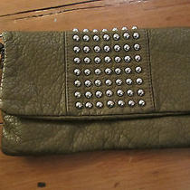 Mossimo Clutch Wristlet Fold Over Purse/bag Studded Olive New W/tags Photo