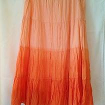 Mossimo Cotton Skirt L Orange Photo