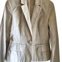 Mossimo Cream Fitted Blazer Size 4 Small With Pockets and Button Photo