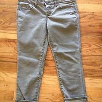 Mossimo Cropped Fitted Green Jeans Size 7 Fit 6 Photo