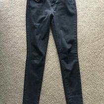 Mossimo Curvy Skinny Power Stretch Womens 0 Black Denim Jeans 28 X 30 Juniors Photo