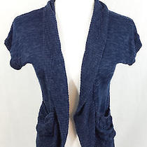 Mossimo Dolman See Through Blue Knit Net Cardigan Cover Up Top Xs Xsmall Photo