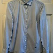 Mossimo Dutti Sz 6 or Small Womens Blouse Shirt Top Made in Portugal Light Blue Photo