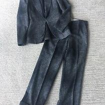 Mossimo Dutti Womens Wool Blazer and Wide Leg Pant Suit Size 34/ Us 2/ Xs Photo