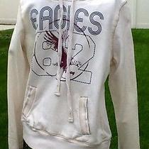 Mossimo  Eagles Pullover Drawstring Hoodie  Off-White   Size Large Photo