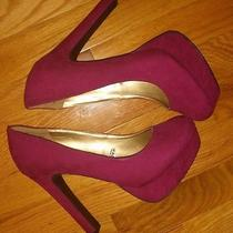 Mossimo Fusion Pink Purple Bright Color Platform Heel Size 8.5 Photo
