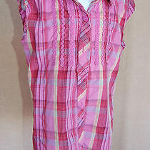 Mossimo Girl M 7/8 Pink and Other Colors Cotton Top Short Sleeves 100% Cotton  Photo