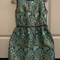 Mossimo Gold and Blue Foil Dress - Small Photo