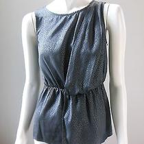 Mossimo Gray Shimmer Drape Blouse Sleeveless Pleated Shirt Top Dressy Shell Xs Photo
