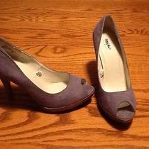Mossimo Gray Suede Heels Photo