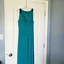 Mossimo Green/blue/teal Tie Waist Maxi Dress Photo